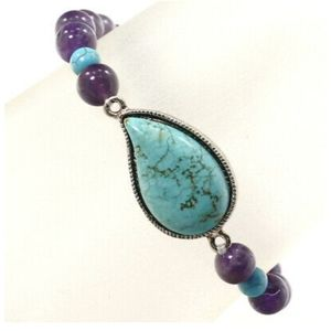 NEW!!! AMETHYST AND TURQUOISE BRACELET